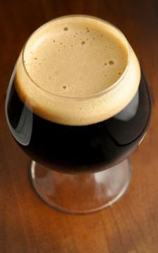Dark Beer in Tulip